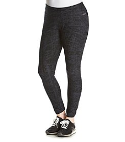 Calvin Klein Performance Plus Size Crosshatched Printed Legging