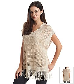 Oneworld® Fringe Bottom Sweater
