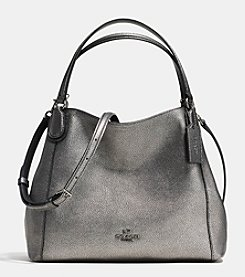 COACH EDIE SHOULDER BAG 28 METALLIC PEBBLE LEATHER