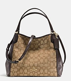 COACH EDIE SHOULDER BAG 28 IN SIGNATURE JACQUARD