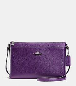 COACH JOURNAL CROSSBODY IN BICOLOR PEBBLE LEATHER