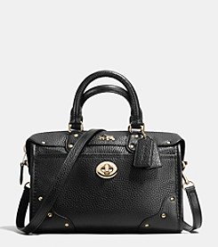 COACH RHYDER SATCHEL 24 IN PEBBLE LEATHER