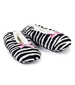 Fuzzy Babba® Zebra Slippers