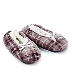 Fuzzy Babba® Plaid Slippers