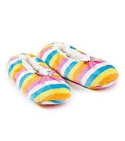 Fuzzy Babba® Rainbow Slippers