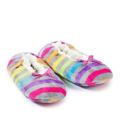 Fuzzy Babba® Rainbow Slippers