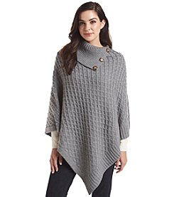 V. Fraas Button Collar Poncho