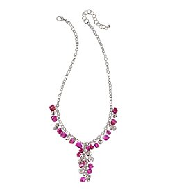 Studio Works® Silvertone And Pink Shell Bead Y-Necklace