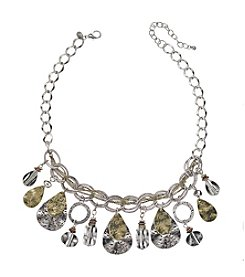 Laura Ashley® Two Tone Layered Shaky Frontal Necklace