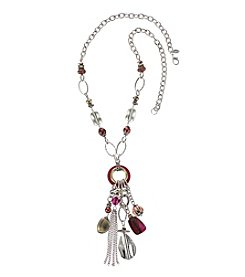 Laura Ashley® Two Tone Beaded Tassel Y-Necklace