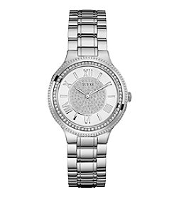 GUESS Women's Silvertone Watch