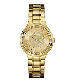 GUESS Women's Goldtone Steel Bracelet Watch