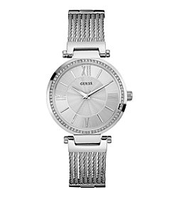 GUESS Women's Silvertone Soho Watch
