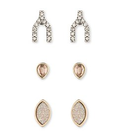 Lonna & Lilly Goldtone Stud Earring Trio