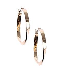 Nine West® Goldtone Twist Hoop Earrings