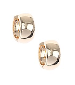 Nine West® Goldtone Small Click It Hoop Earrings