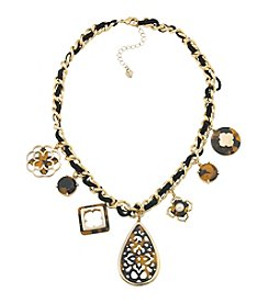 Carolee® Goldtone Fashion Avenue Charm Necklace