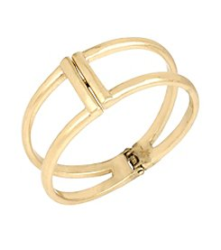 Kenneth Cole® Goldtone Two Row Hinged Bangle Bracelet