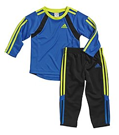 adidas® Baby Boys' 12-24 Month Long Sleeve Goalie Pants Set