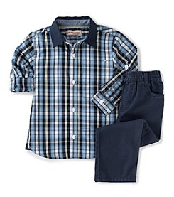 Kids Headquarters® Baby Boys' 12-24 Month 2-Piece Plaid Top Set