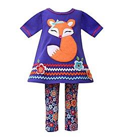 Bonnie Jean® Girls' 2T-4T Floral Fox Set