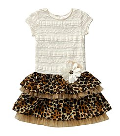 Sweet Heart Rose® Girls' 4-6X Animal Print Skirt Dress