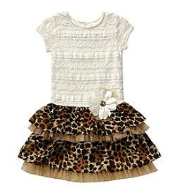 Sweet Heart Rose® Girls' 4-6X Animal Print Skirt Dress