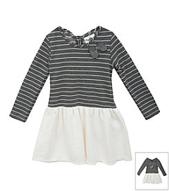 Rare Editions® Girls' 4-6X Long Sleeve Striped Top Dress