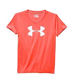 Under Armour® Girls' 7-16 Short Sleeve Logo V-Neck Tee