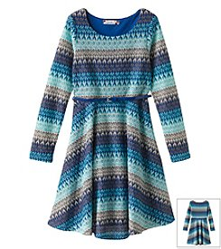 Speechless® Girls' 7-16 Printed Dress With Belt