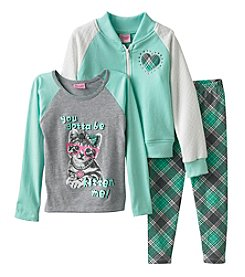 Nannette® Girls' 4-6X Varsity Cat Jacket And Leggings Set