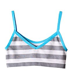 Jockey® Girls' 2-Way Striped Crop Bra
