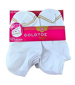 GOLD TOE® Girls' 6 Pack Solid Flat Ballet Socks