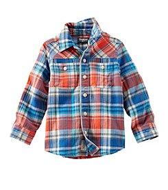 OshKosh B'Gosh® Boys' 2T-7X Button-Front Herringbone Shirt