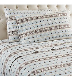 Shavel Home Products Micro Flannel® Reindeer Stripe Sheet Set