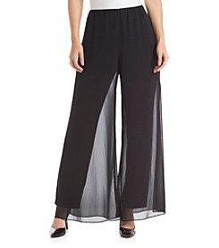 Alex Evenings® Straight Leg Sheer Overlay Pants