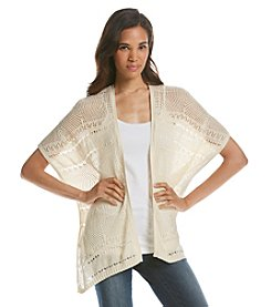 Jeanne Pierre® Open Stitch Cardigan