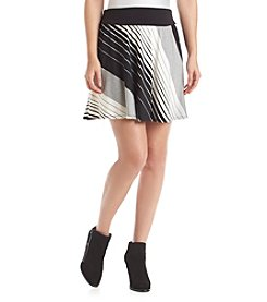 AGB® Striped Knit Skirt