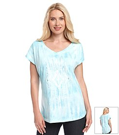 Relativity® Tie Dye Graphic Top