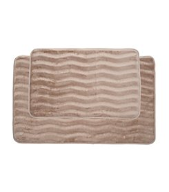 Lavish Home 2-pc. Memory Foam Bath Mat Set