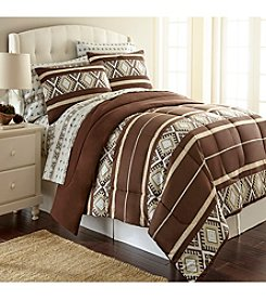 Shavel Home Products Micro Flannel® Reindeer Stripe Comforter Set