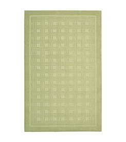 Nourison Westport Lime Small Checks Area Rug