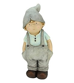 Young Gnome Boy with Hands in his Pockets Outdoor Patio Garden Statue