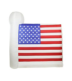 6' Inflatable Lighted Fourth of July American Flag Yard Decoration