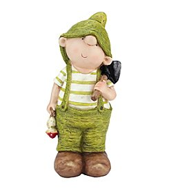Young Gnome Boy with Shovel Outdoor Patio Garden Statue