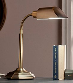 Southern Enterprises OttLite Honey Brass Felton Task Table Lamp