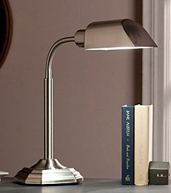 Southern Enterprises OttLite Brushed Nickel Felton Task Table Lamp
