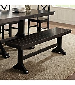 W. Designs Antique Black Bench