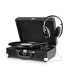Innovative Technology Portable Suitcase Turntable with Headphones