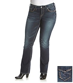 Silver Jeans Co. Plus Size Suki Mid Slim Boot Jeans